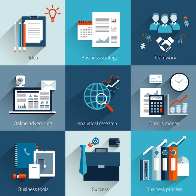 Business designs collection Premium Vector