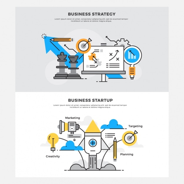Business designs set