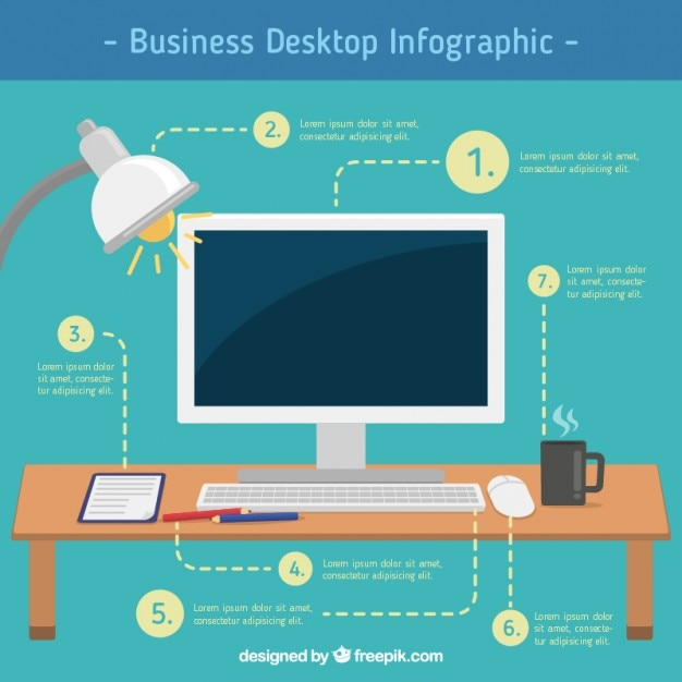 Business Desktop Infographic Vector Free Download