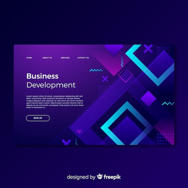 Business development landing page Free Vector
