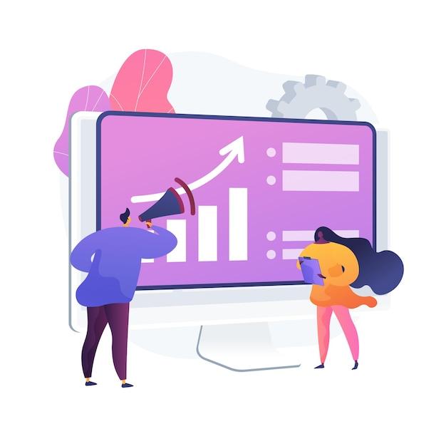 Развитие бизнеса. развитие рынка, расширение бизнеса, реклама, маркетинг. инфографика и статистическая аналитика. корпоративный менеджер. Бесплатные векторы