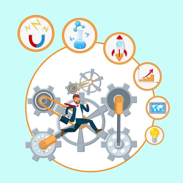 Business development process vector illustration Premium Vector