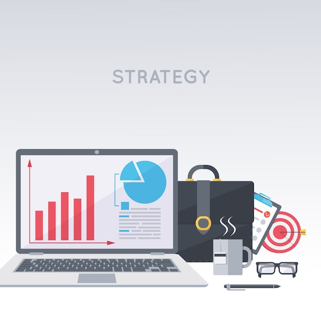 Business development strategy Free Vector