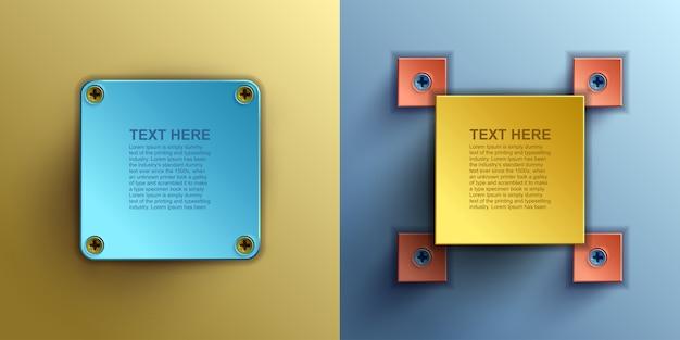Business digital infographics, web element , square with information sectors under Premium Vector