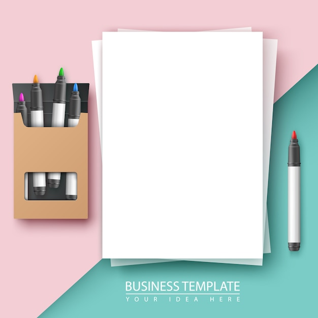 Business document background. Premium Vector