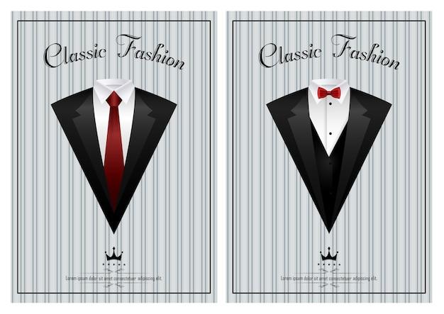 Business elegant invitation card template Premium Vector