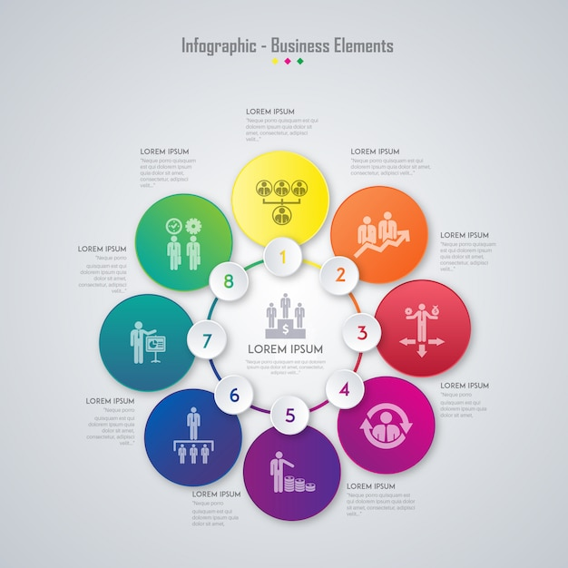 business elements infographic Free Vector