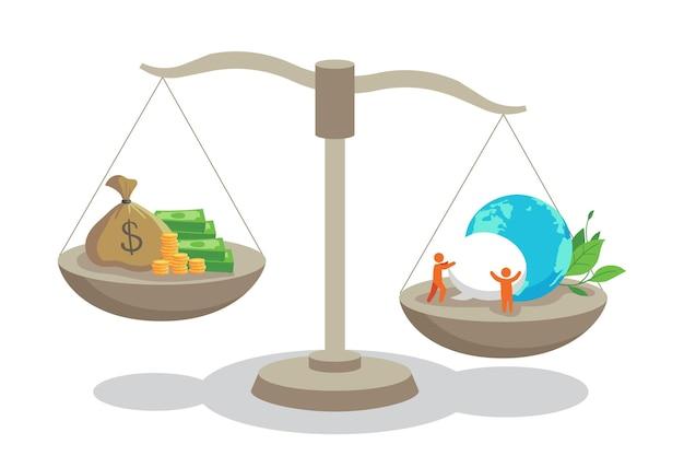 Illustrazione di concetto di etica aziendale Vettore gratuito