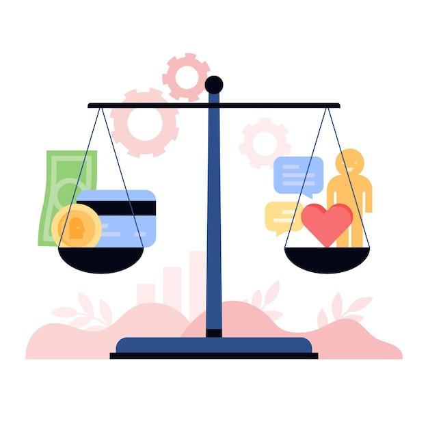 Иллюстрация деловой этики Бесплатные векторы