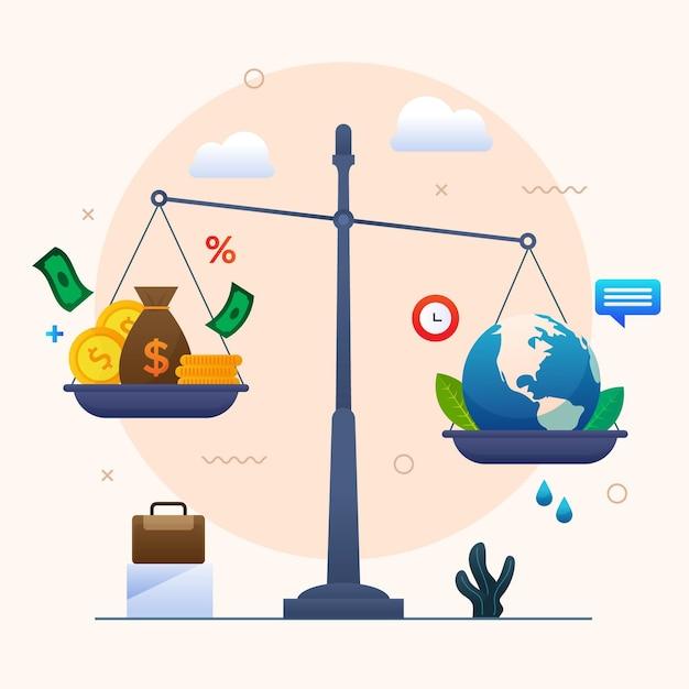 Business ethics illustration Free Vector