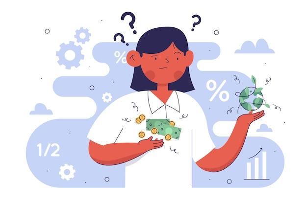 Illustrazione di etica aziendale Vettore gratuito