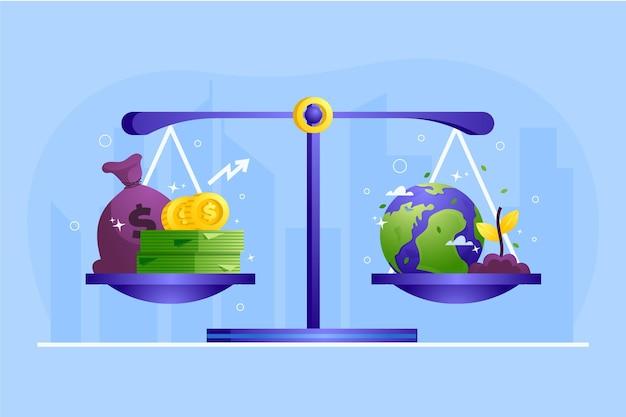 Баланс шкалы деловой этики Бесплатные векторы