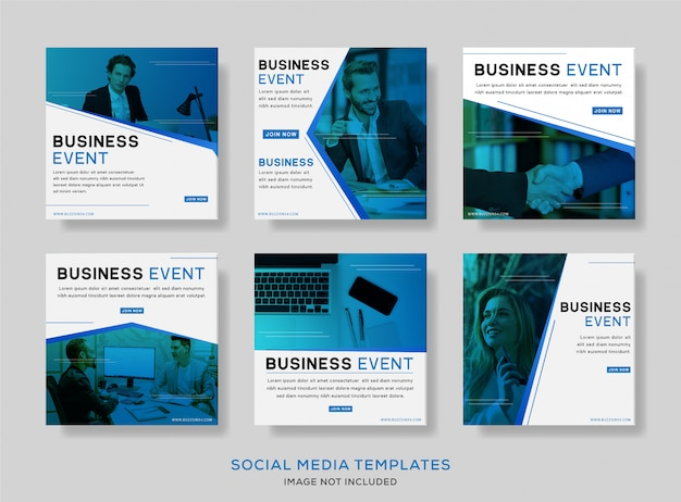 Business event social media post banner Premium Vector