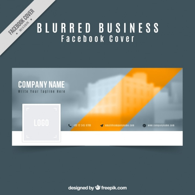 Business facebook cover in a modern style