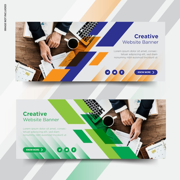 Business facebook cover social media post banner Premium Vector