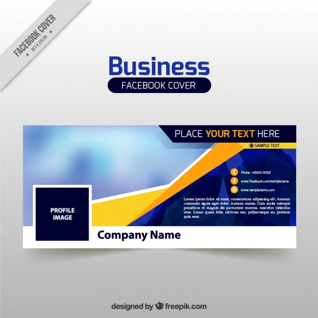 Download vector facebook cover template vectorpicker business facebook cover template accmission Gallery