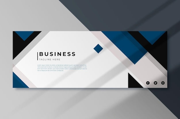 Business facebook cover template Premium Vector