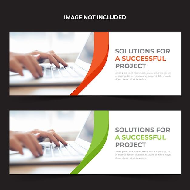 Business facebook cover template Premium Vector