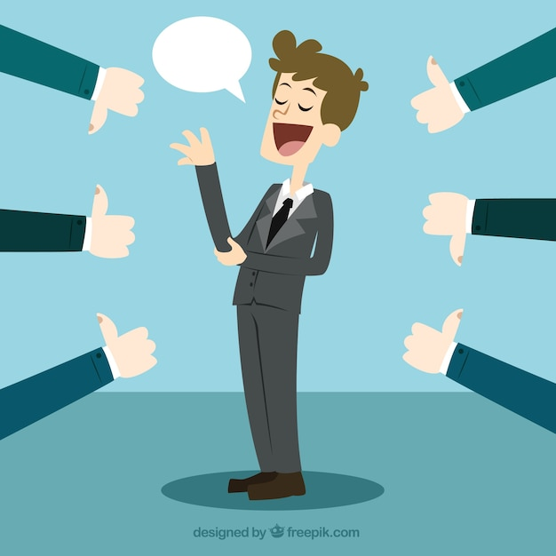 Business feedback concept Free Vector