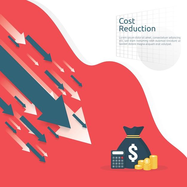 Business finance crisis banner Premium Vector