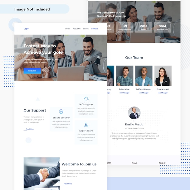 Business and finance email template ui design Premium Vector
