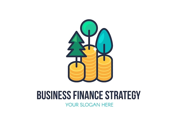 Business finance strategy logo template Premium Vector