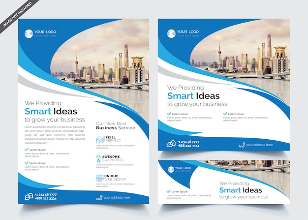 Business flyer and banner templates Premium Vector