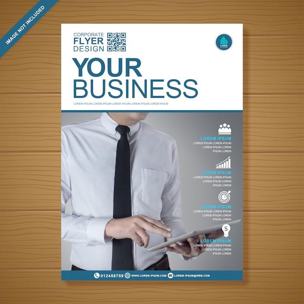 Business flyer design template Premium Vector