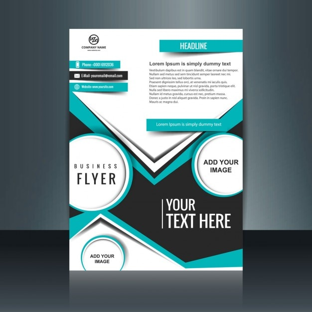 Business flyer design with flat shapes Vector | Free Download