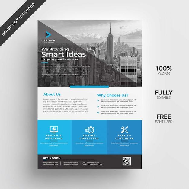 Business flyer design Premium Vector