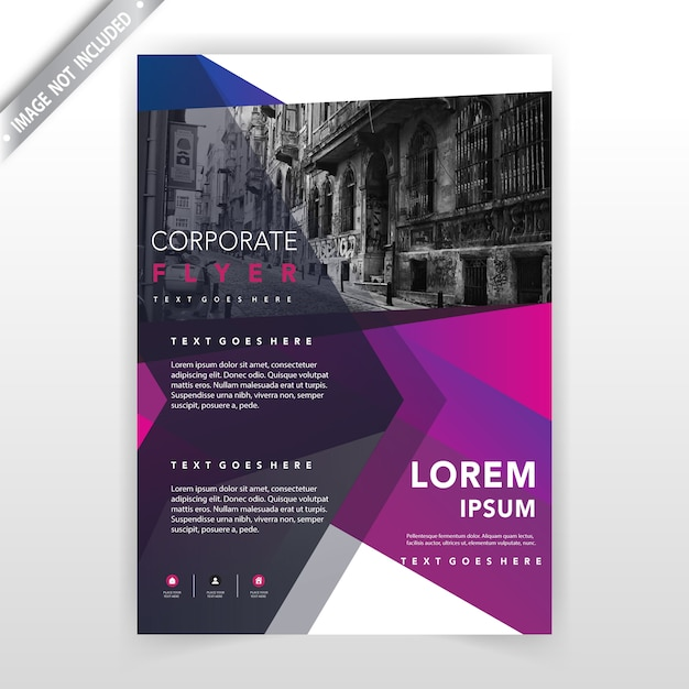 business flyer illustration layout Free Vector