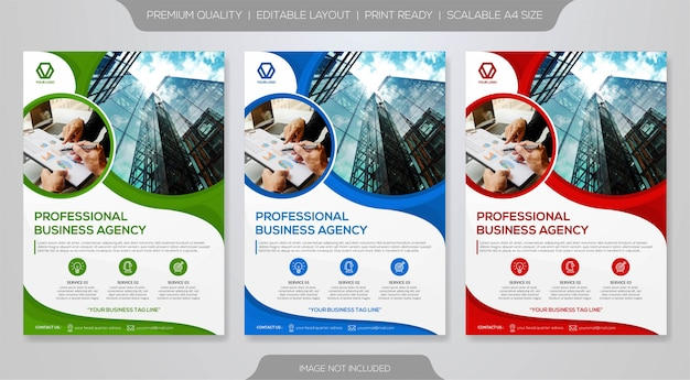 Business flyer premium template Premium Vector