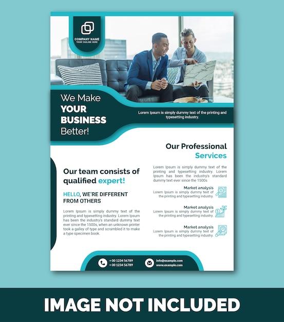 Бизнес флаер премиум Premium векторы