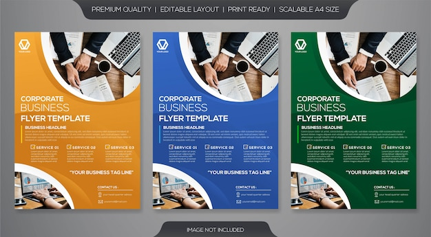 Business flyer premium Premium Vector