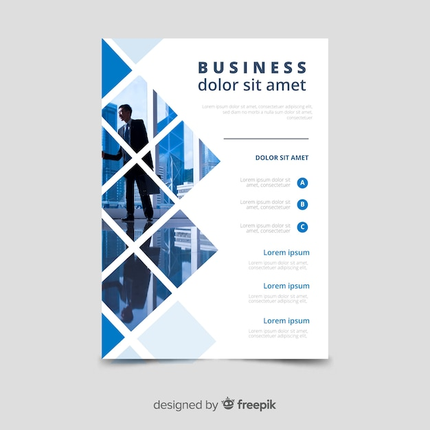 Business flyer template mosaic Free Vector