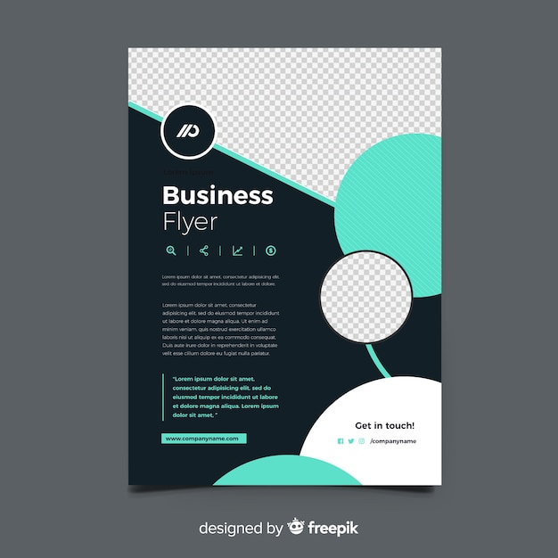 Business flyer template with abstract shapes Vector | Free Download