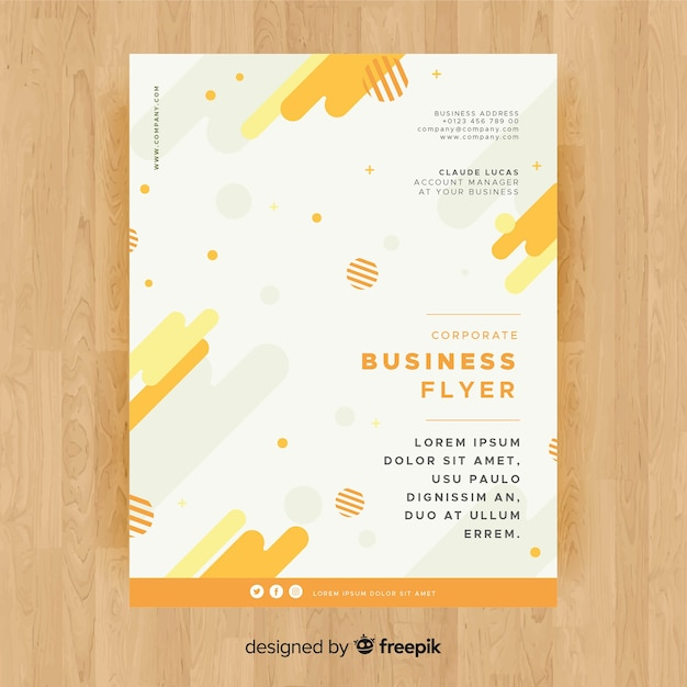 Business flyer template with colorful style Free Vector