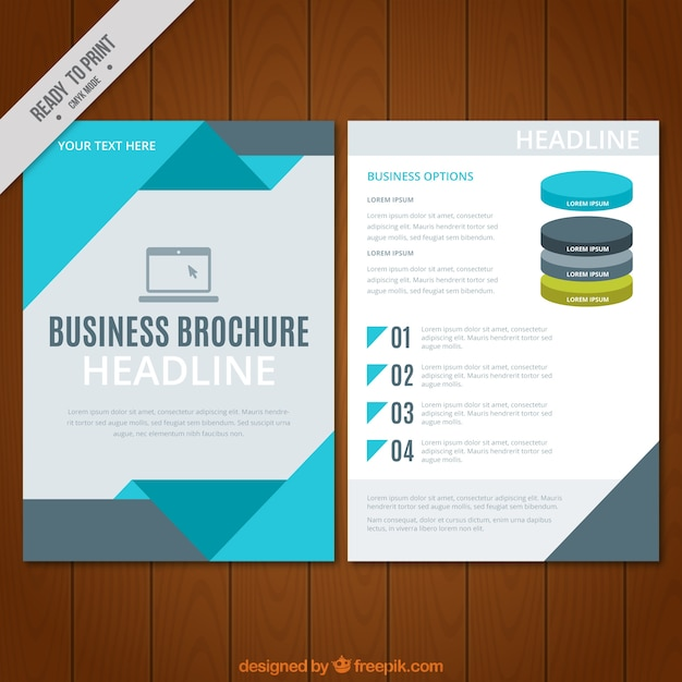 Business flyer template with geometric forms