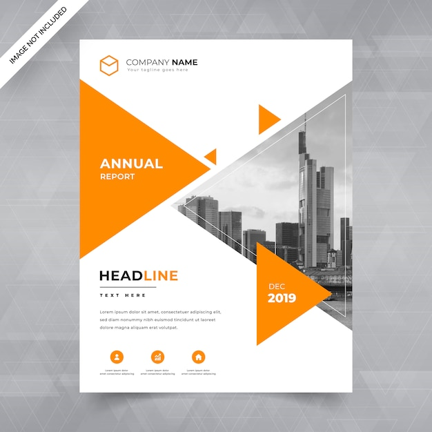 Business flyer template with image Premium Vector