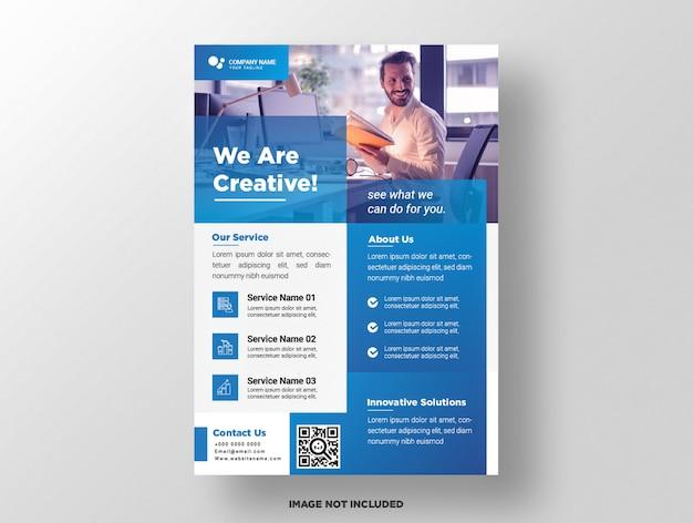 Business flyer template. Premium Vector