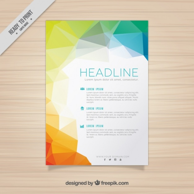business flyer template vector free download
