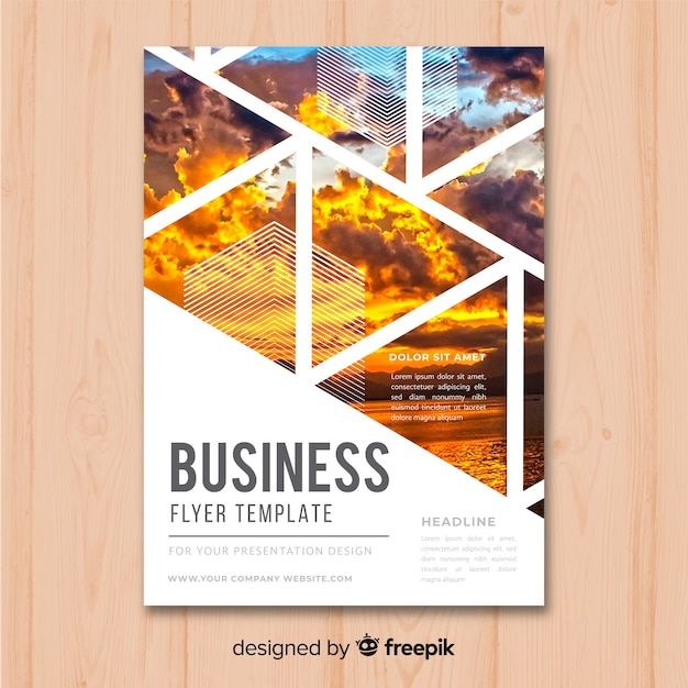Business Dashboard Flyer Free Download: Business Flyer Template Vector