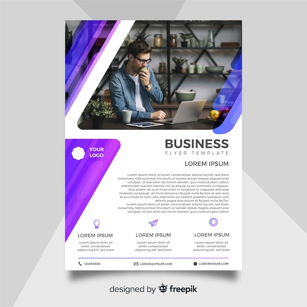 Business flyer template Free Vector