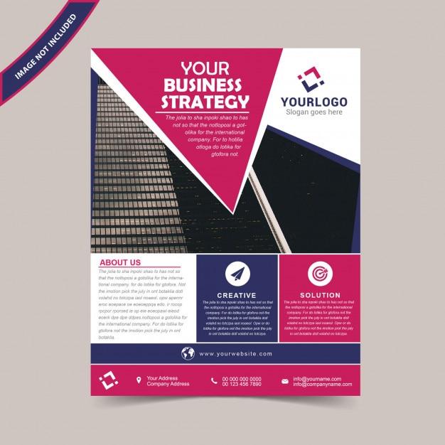 Business flyer template Premium Vector