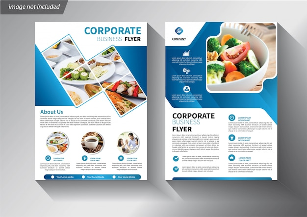 Business flyer templates Premium Vector