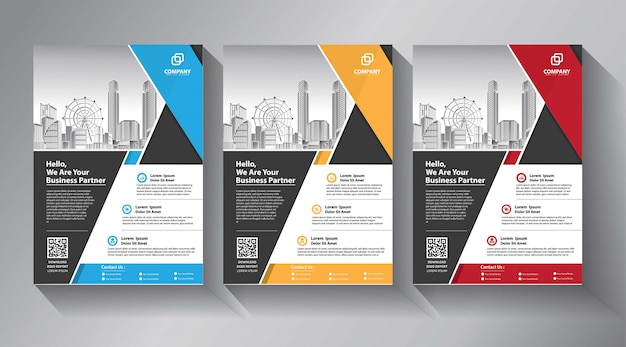 Business flyer templates Premium Vector