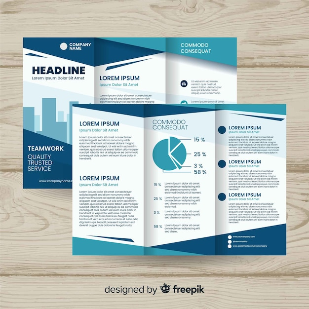 Business flyer Free Vector