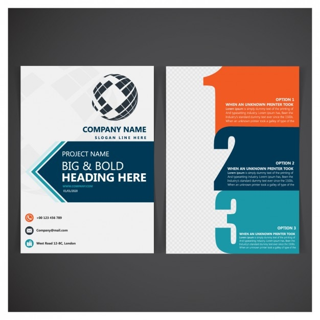 business folder template vector free download