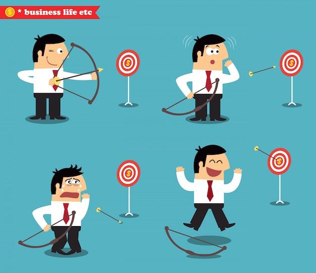 Business goal statuses Free Vector