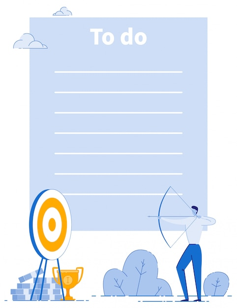 Business goals company strategy to do list layout Premium Vector